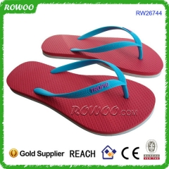 Customized logo rubber lady flip flops